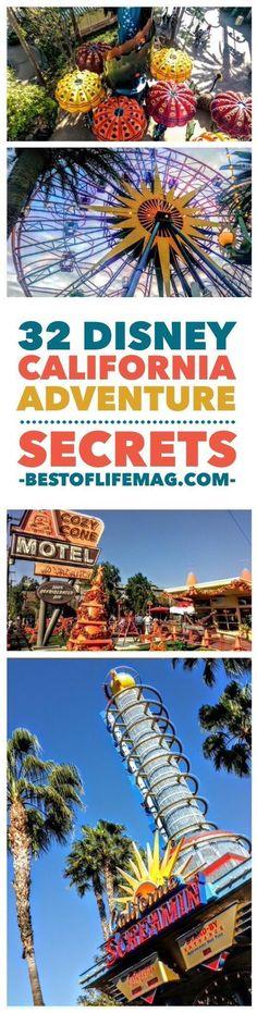 32 California Adventure Secrets at Disneyland Resort - The Best of Life Magazine Disneyland Secrets, Disney Secrets, Disney Tips, Disneyland Resort, Disney Fun, Disneyland Hacks, Disneyland 2017, Disney Magic, Disneyland Honeymoon