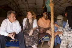 UNHCR chief António Guterres visits Malian refugees in Damba camp, Burkina Faso together with Anne Richard, Assistant Secretary for the Bureau of Population, Refugees and Migration at the United States Department of State.  UNHCR/ H. Caux