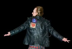 Putting the PUNK in Steampunk Embellished Leather Jacket by SeamsUnusual   Smoked Glass Goggles