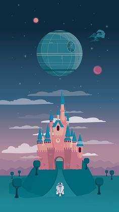 Star Wars heads to Disneyland in this wallpaper