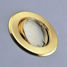 Einbaustrahler rund schwenkbar Metall B002 Gold