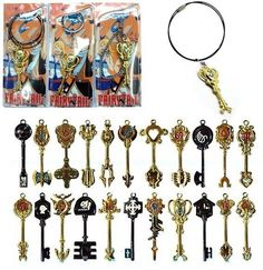 Fairy Tail Constellation Magister Lucy's Zodiac Magic Necklace Pendant Keyrings