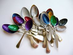 when life gives you spoons... make them glittery...