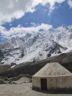 yurt mountains karakoram highway xinjiang