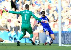 18 April 2015 / Chelsea 1-0 Manchester United: CESC FABREGAS was in a very tight spot on the by-line when he slipped his marker. The Spaniard ran out of space to properly test David de Gea...