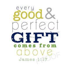 JAMES 1:17 Scripture Art Print // Christian Scripture Nursery Subway Art // Baby Boy Room Decor // New Baby Boy Shower Gift