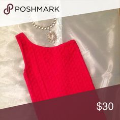 BeBe One Strap Top in Red BeBe One Strap Shoulder Top in red. Size M/L worn once, very stretchy! Fits nicely even if you are curvy! bebe Tops Blouses