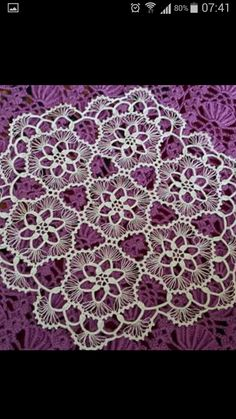 connie rhodes's 058 media content and analytics Crochet Tablecloth Pattern, Crochet Lace Edging, Crochet Borders, Crochet Stitches, Lace Doilies, Crochet Doilies, Doily Patterns, Crochet Patterns, Bruges Lace