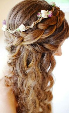 Superb Braid Flower French Braids And Flower Girls On Pinterest Hairstyle Inspiration Daily Dogsangcom