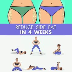 The most effective way to reduce side fat is quite below! Easy exercises were made to get slimmer waist. Try it on and enjoy the results! # health and Fitness Reduce Side Fat in 4 Weeks with Easy Exercises at Home