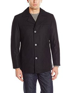 """Wool blend single breasted button front car coat with lower side entry pockets       Famous Words of Inspiration...""""The sudden disappointment of a hope leaves a scar which the ultimate fulfillment of that hope never entirely removes.""""   Thomas...  More details at https://jackets-lovers.bestselleroutlets.com/mens-jackets-coats/wool-blends-mens-jackets-coats/product-review-for-halifax-traders-mens-wool-blend-button-front-jacket/"""