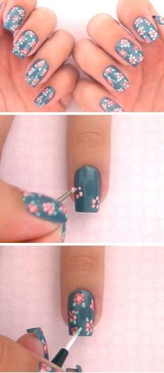 Dress up your nails in the most stylish way this spring with overthetop flower nail art designs. Try out different patterns of floral nails in peppy bright and neon hues. For that added sparkle ad Short Nail Designs, Colorful Nail Designs, Nail Designs Spring, Cute Nail Designs, Spring Design, Nail Art Flowers Designs, Nail Designs Floral, Nail Designs Summer Easy, Nail Design For Short Nails
