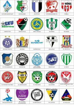 Austria - Pins de escudos/insiginas de equipos de fútbol.