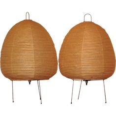 pair of vintage akari table lamps by isamu noguchi from a unique collection of antique akari furniture