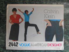 Vogue American Designer Sewing Pattern 2442 - Calvin Klein Size 12 by WeBGlass on Etsy