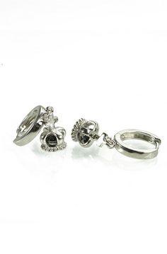 Rhinestone Centered Crown Cuff Earrings, $21.99