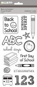 Back To School Clear Stamps - TPC Studio