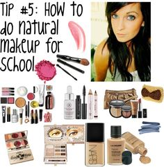 """Tip #5: How to do natural makeup for school"" by polyvoretips6 ❤ liked on Polyvore"