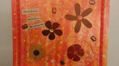 Bright Orange/Yellow/Red Flower Mixed Media by amazingstacy