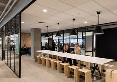 Heartland Bank by Warren and Mahoney Lunch Table, Office Meeting, Extra Seating, Heartland, Design Awards, Solid Oak, Cool Designs, Stool, Indoor