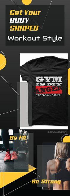 Gym is My Anger Management Men & Women Fitness TShirt / Ladies & Guys Tee.  #Fitness #Sports #Exercise #gymclothes #gym #gymdesign #gymappareal  #Outfits #Curvy #Teens #Gymstylist #Gymtops #Gymcasual #workout  #men #women #fashion #Sunfrog #Lisaliza #giftideas #healthy #lifestyle