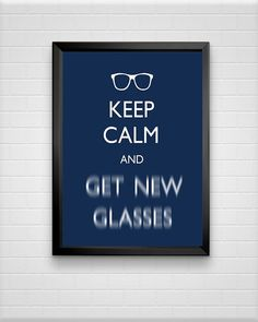 Keep Calm Typography Print Optometrist Gift Funny by ModPopDeco