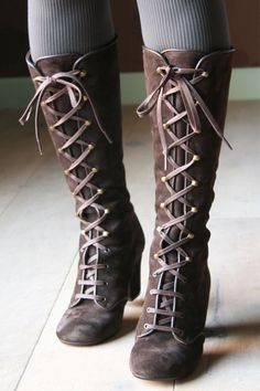 lace up boots...these are the freaking cutest boots I've laid my eyes on!