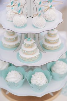 A turquoise seaside bridal shower with Martha Celebrations. Pretty shade of blue.