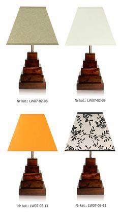 Lampa drewniana Lightwood LW07 ORZECH ciemna, nocna/stolowa/salonowa