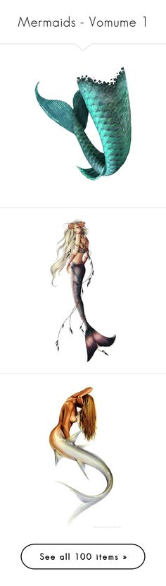 """Mermaids - Vomume 1"" by marie-guzik-mcauley ❤ liked on Polyvore featuring mermaid, doll parts, dolls, body parts, fillers, mermaids, people, fantasy, drawings and art"
