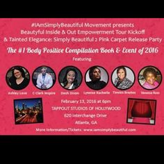 Get ready to have a fantabulous body positive time at the Tainted Elegance: Simply Beautiful 2 Release Party! Get your tickets today! For a limited time Buy 1 Bring a Friend for $1! (Link In Bio) #IAmSimplyBeautiful #IAmSimplyMe #TaintedElegance #Atlanta #AtlantaMedia #AtlantaGeorgia #AtlantaModel #atlantaphotographer #ATL #Beauty #Confidence #SelfLove #Women #SisterHood #Book #BookLaunch #EmpowerWomen #Empowerment #SelfLove