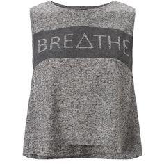 Sweaty Betty Breathe Yoga Tank ($55) ❤ liked on Polyvore featuring tops, shirts, tanks, tank tops, activewear, stonemarl and sweaty betty