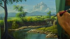 Acrylic Landscape Painting Lesson | River to the Bridge in Step by Step Tutorial by JM Lisondra - YouTube