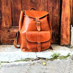 Rucksack aus Leder Frauen Rucksack Geldbörse aus von NickysLeather