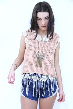 PEACH FUZZ CROP TOP