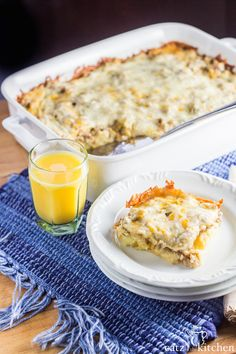 This overnight sausage, egg, & cheese breakfast casserole recipe is incredibly simple to prepare, & convenient when you don't have time to cook in the morning!