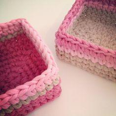 Girls basket - crochet & knit