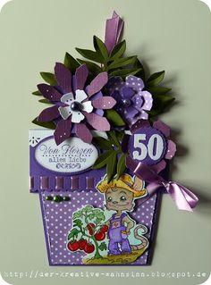 Flower Pot Card / Blumentopfkarte