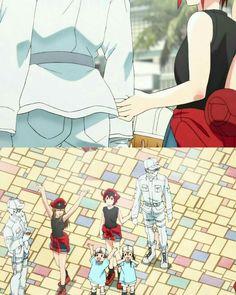 Cells at work! Anime Couples Manga, Cute Anime Couples, Manga Anime, Anime Art, Memes Pt, Movie Hacks, Blood Anime, Desenhos Love, White Blood Cells