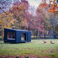 Modular Log Cabin, Modern Modular Homes, Log Cabins, Modern Cabins, Small Prefab Cabins, Prefab Modular Homes, Eco Cabin, Tiny House Cabin, Cabin Design