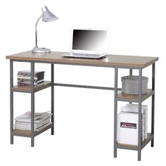 Found it at AllModern - Computer Desk with 4 Shelves