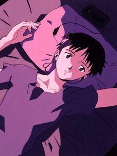 Sad Anime, Anime Guys, Anime Art, Neon Genesis Evangelion Anime, Evangelion Shinji, Mecha Anime, Anime Scenery, Vaporwave, Animes Wallpapers