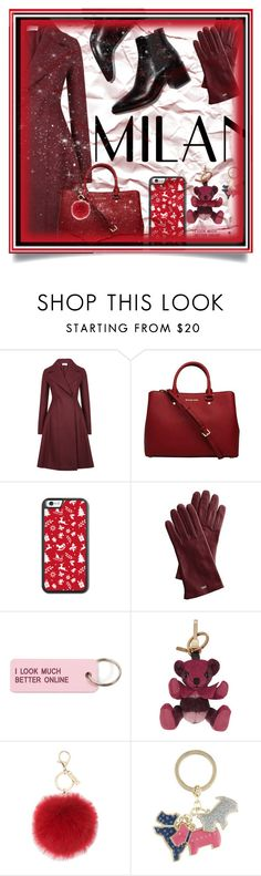 """""""Red Coat"""" by emilox ❤ liked on Polyvore featuring Harris Wharf London, MICHAEL Michael Kors, Mark & Graham, Various Projects, Burberry, L.K.Bennett and Radley"""