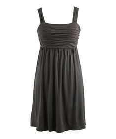 This Black Ruched Sleeveless Dress - Women by Peppermint Bay is perfect! #zulilyfinds
