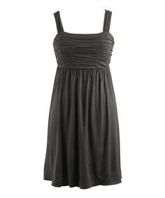 Black Ruched Sleeveless Dress - Women #zulily #zulilyfinds