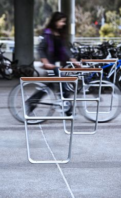 MultipliCITY Bike Rack #landscapeforms #sitefurniture #outdoorfurniture…