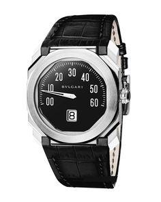Bvlgari Octo Mono-Retrograd Gerald Genta - швейцарские мужские часы наручные, стальные, черные