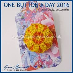 Day 284.... For those who just started in this group. Gina is presenting her handmade buttons daily on FACEBOOK. #buttonlovers