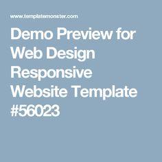 Demo Preview for Web Design Responsive Website Template #56023