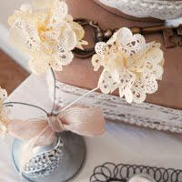 Tea Stained Paper Flower Doilies by Pen 'n Paperflowers